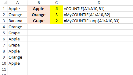 How to use the COUNTIF function in VBA - Quora