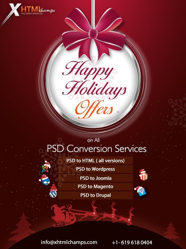 hyderabad india 10 dec 2014 xhtmlchamps is a leading web designing and development company offers rich and quality web services to its clients across the - Best Christmas Deals 2014
