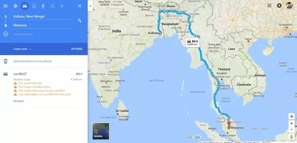 Can we travel from india to malaysia by road quora 8 international road trips you can take from india publicscrutiny Images