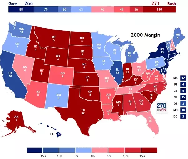 Democrats Vs Republicans Map