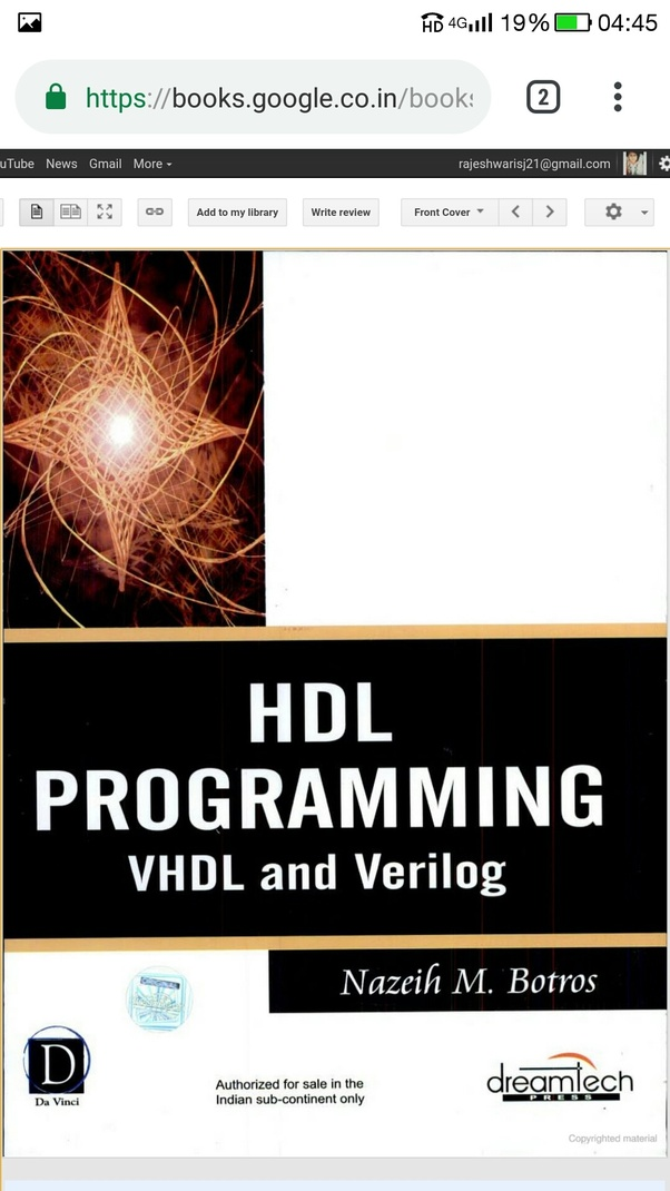 Where can I get the PDF of HDL Programming (VHDL and Verilog