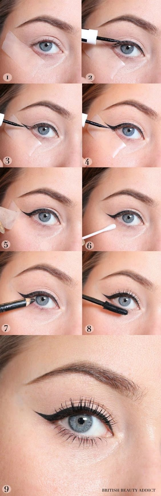 How to apply winged eyeliner - Quora
