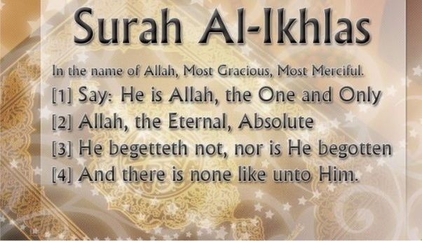 What is the meaning behind 'Surah Al Ikhlas' of the Holy