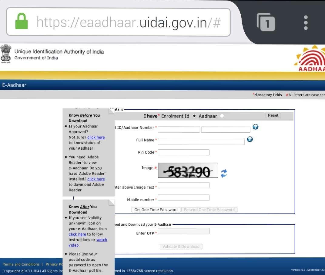 eaadhar uidai gov in eaadhar
