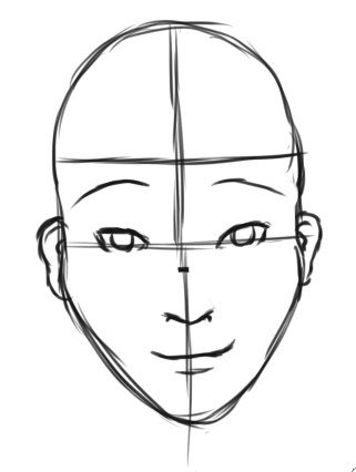 How do i draw a human face