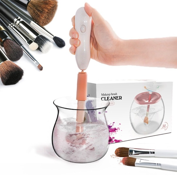 However , some of them didn't know how to use the new electric makeup brush cleaner