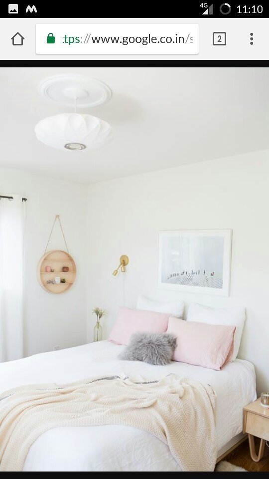 Try To Keep Your Bedding Minimalist So As To Make Your Room Appear Bigger.