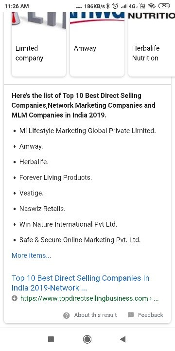 Which is the best company for network marketing (multi-level