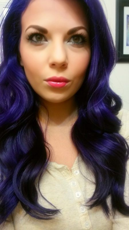 Is there a good dark blue permanent hair dye that works well on dark ...