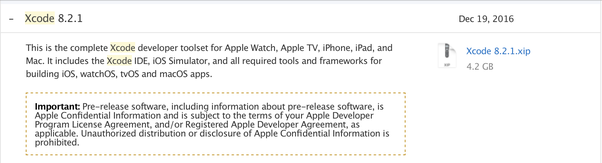 Xcode 8 download for mac