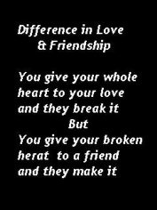 paragraph about love and friendship