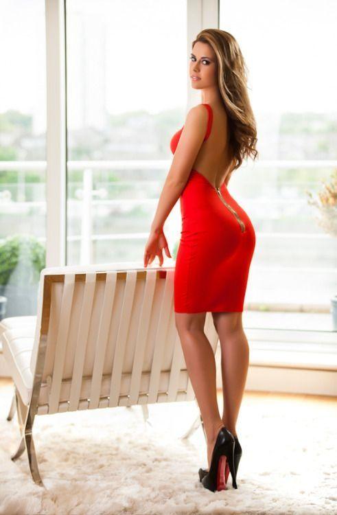 Hot heels short dress walk sex