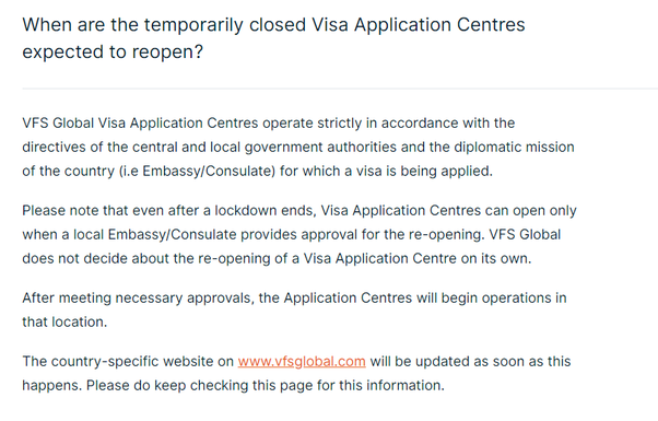 When Will The Visa Application Process Start In India After Lockdown Quora