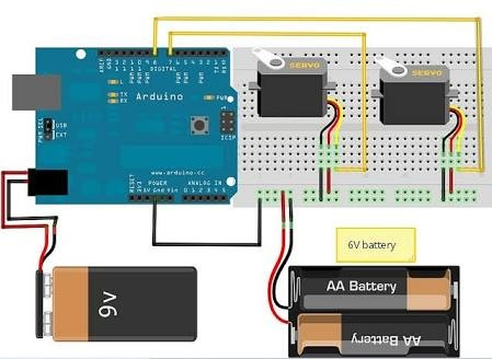 How to connect 2 servomotors with Arduino - Quora