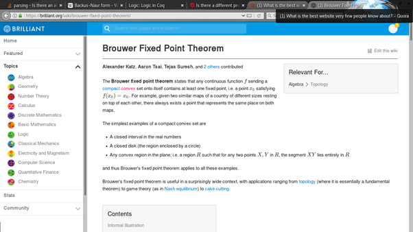 application of fixed point theorem in computer science