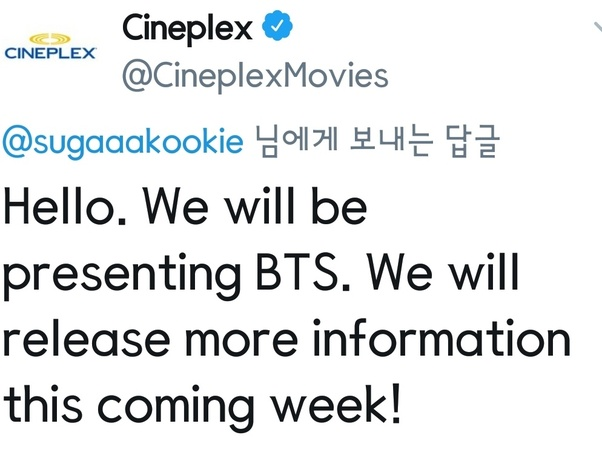 Will BTS: Burn the stage the movie be playing in Canadian