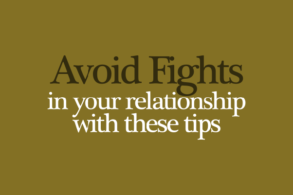 how to prevent fights in a relationship