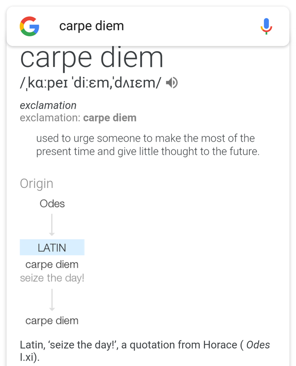 Whats the meaning of carpe diem quora you should have googled it yourself its from a latin quotation meaning sieze the day or take over the day like its your birthday altavistaventures Images