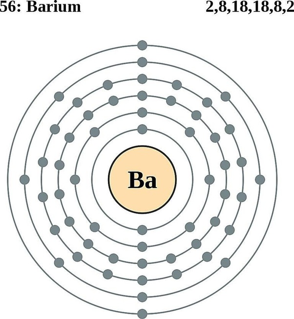 how many valence electrons are in barium quora