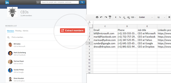 how to download csv file from linkedin