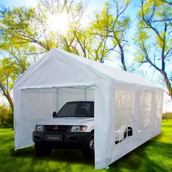 #Quictent 10u0027 X 20u0027 Heavy Duty Portable Carport Canopy Party Tent White