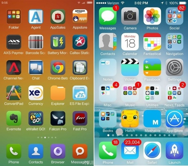 Can xiaomi miui beat apple iphone ios quora miui 6 homescreen can be customized to be more than just a grid of iconsswipe to the left however and the size layout and folder structure is stopboris Images