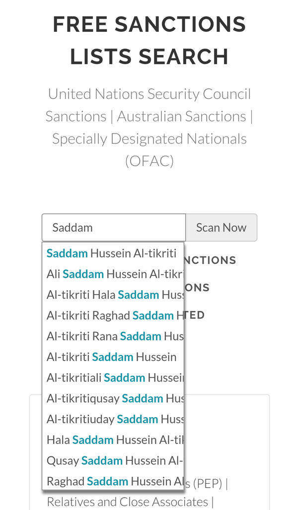 Is there a Sanctions and PEP check mobile app out there? - Quora