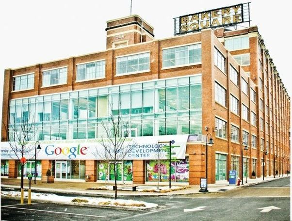 google office in pittsburgh. Google Occupies Several Well-decorated Floors In A Rapidly Expanding Office Located At The Fancy Bakery Square, Surrounded By Dedicated Parking, Pittsburgh L
