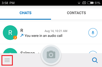 I have a contact in imo messenger app but i don't have her