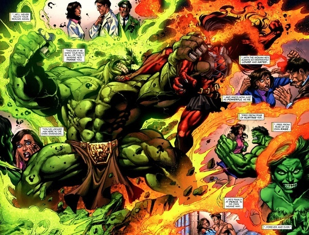 F During His Fight With Red She Hulk The Shock Waves Of Their Punches Destroyed A Planet