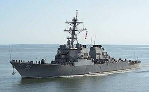 Can a modern destroyer (Burke class) win a fight with WW2 battleship