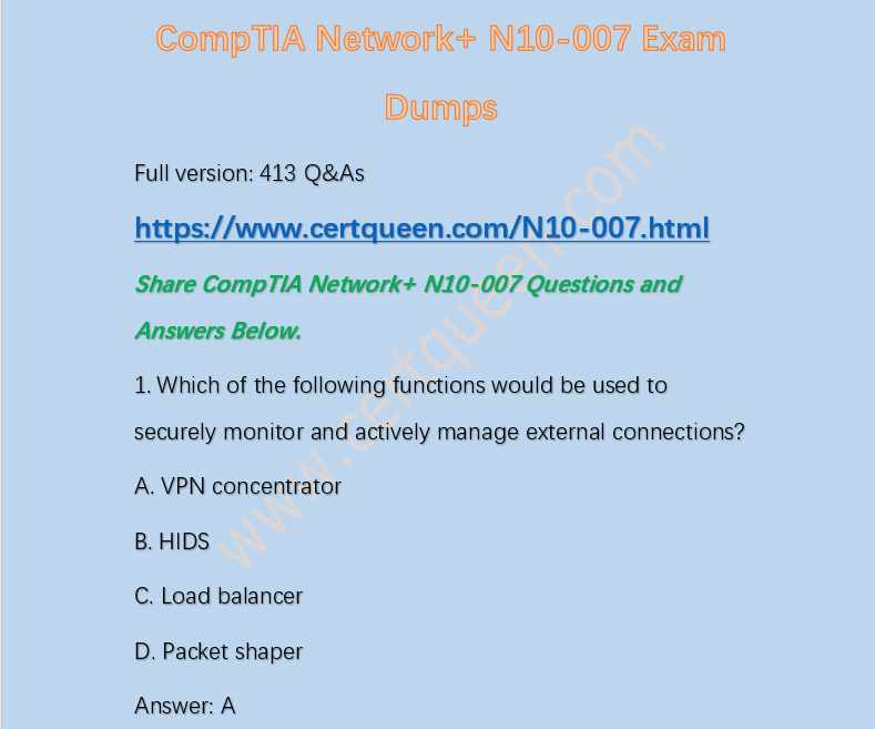 Do I Need To Choose A Comptia Network N10 007 Pdf For Passing Quora