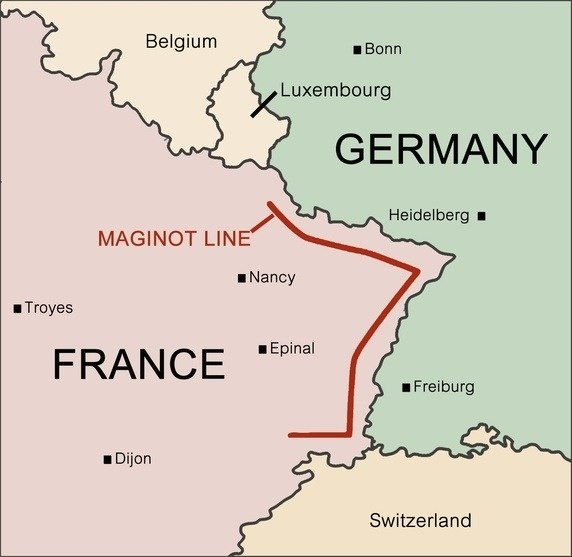 Was there ever a point in world war ii where it seemed like the maginot line set defensive forts spanned the entire german frontier and as soon as this was bypassed by way of belgium it became useless gumiabroncs Choice Image