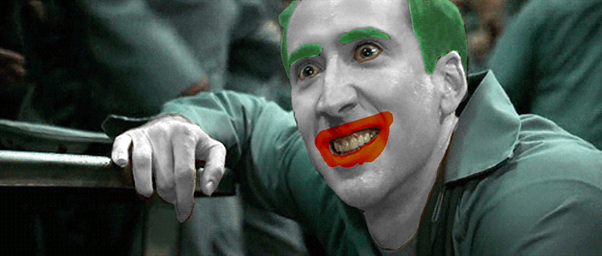 Image result for NIC CAGE THE JOKER