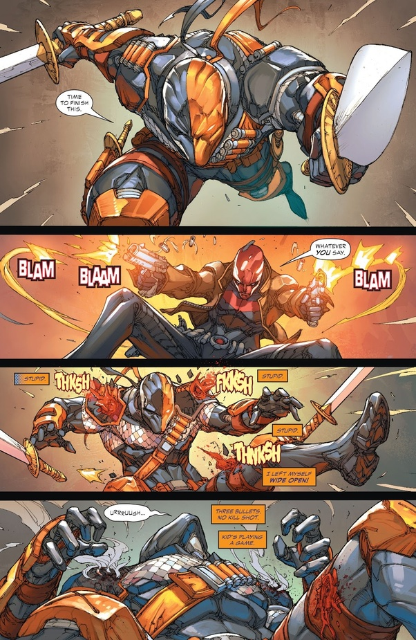 Spoiler Has Red Hood Ever Fought Deathstroke And If So Could He Beat Deathstroke Like He Did In Batman Ninja Quora