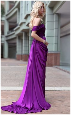 Complementary colors to dark purple dresses