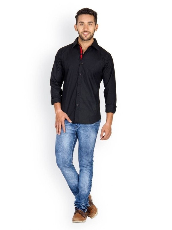 What colour of jeans suits a black formal shirt quora Black shirt blue jeans