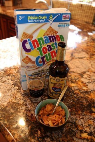 Whats a good way to eat cereal if ive run out of milk and yoghurt beer its whats for breakfast put some golden barley malt and hop elixir on those grape nuts ccuart Images