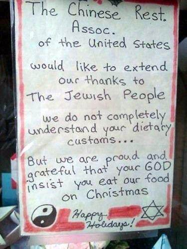 so taking in everything i think we can see why jews eating at chinese restaurants has become a staple tradition for christmas