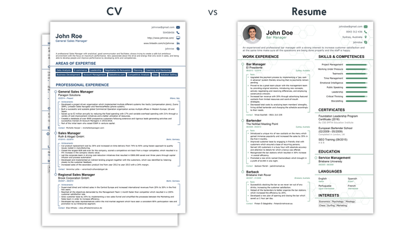 There Is Also Another Difference Of Where The Word Is Used. Since In  Europe, Most Of The People Use U201cCVu201d Even When Referring To A Resume; While  In The US ...  Is A Cv The Same As A Resume