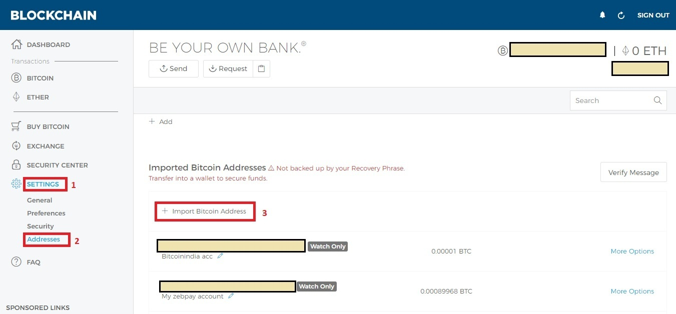 How to transfer bitcoins from paper wallet to Zabpay - Quora