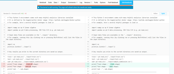 What tools did Kaggle use for diffing notebook? - Quora
