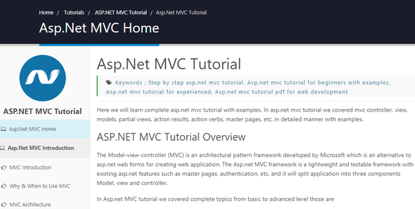 What is the best online tutorial for learning C# net and ASP