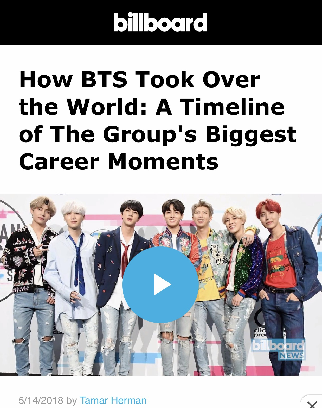 When is the first time BTS went to Billboard   Quora