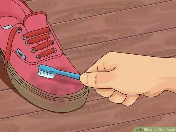 How to wash vans shoes quora 3take a medium to large soft brush and dip it in the sudsy water taking the shoe in one hand work the brush back and forth on the surface of the shoes ccuart Image collections