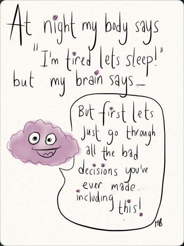 what to think about before sleep