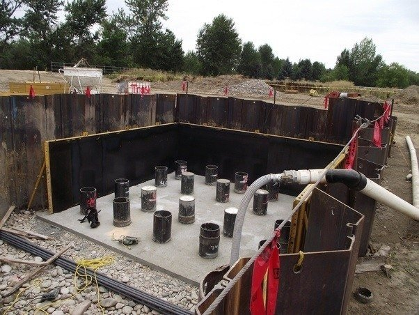 What is blinding concrete quora this is just below what will be the pile foundation the cylinders that you see sticking up are the 16 shell pile solutioingenieria Image collections