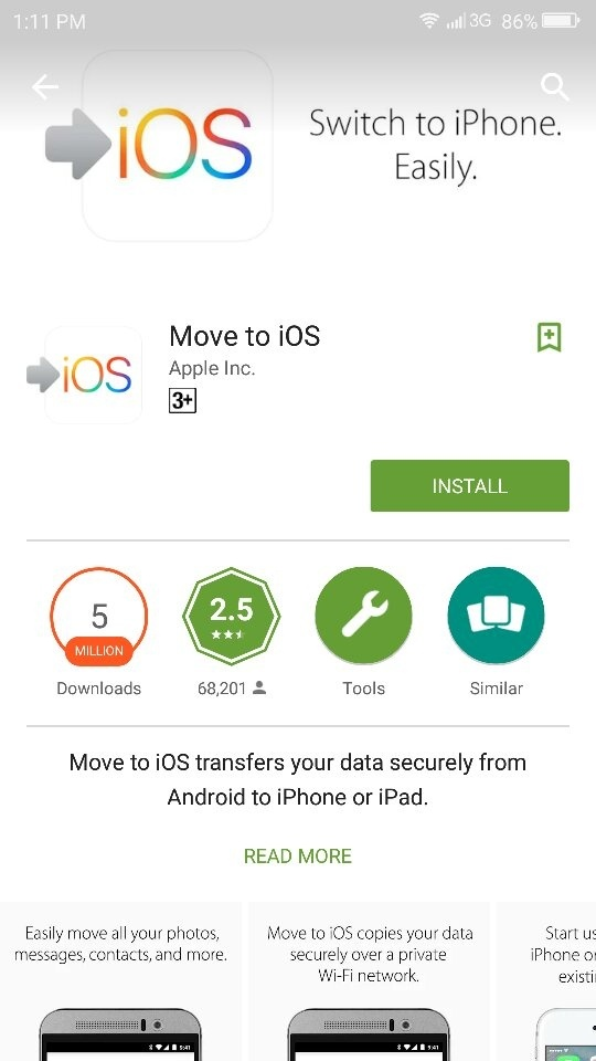 Apple introduced this app last year on Play store to move data from your  old android phone to new iPhone. As we all know how tough fight is between  android ...