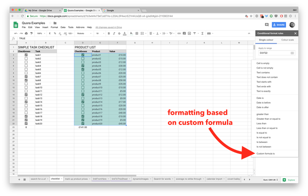 How to change a row colour based on the specific text input