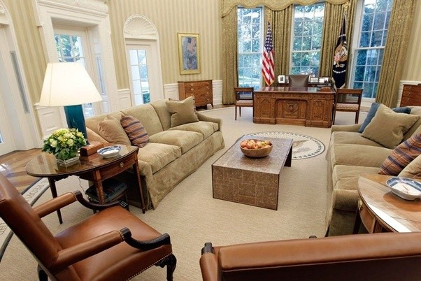 oval office layout. The Obama Oval Office\u0027s Non-committal Color Scheme And Casual, Family Room Aesthetic. Office Layout X